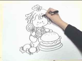 姜宏儿童简笔画教学 第四课之桌子上的物品