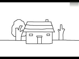 小房子简笔画高清 小房子简笔画美图分享 热门小房子