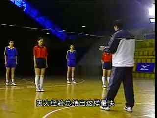 排球视频教学 05 移动步法 正面双手垫球 身体素质训练 视