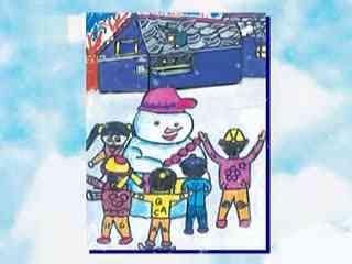 《我坐飞船去太空》姜宏儿童简笔画