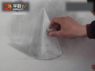 素描几何形体圆锥体的画法 2 华数tv