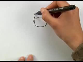 儿童简笔画教程视频 [小丑]