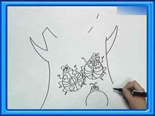 姜宏儿童简笔画教学之树上的瓢虫