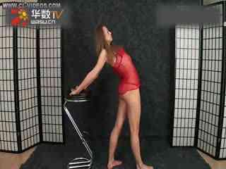杂技柔术视频 美女穿连衣裙激情柔术表演图片