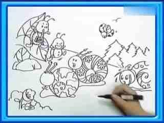 龟兔赛跑连环简笔画