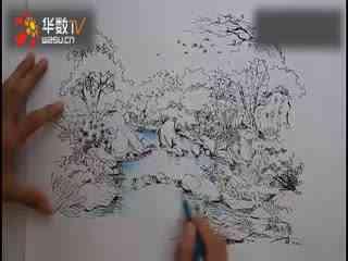 美丽的彩色铅笔画示范风景1flv