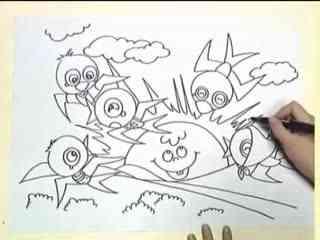 姜宏儿童简笔画教学之春天的燕子