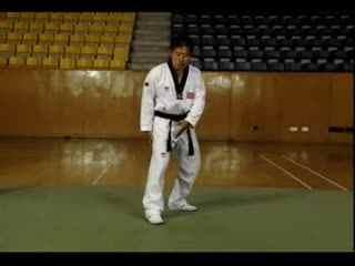 跆拳道教学9 后旋踢 跆拳道腿法教学视频-c--华