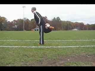 花式足球接背滚球教学-c