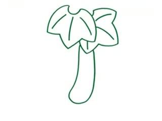 儿童简笔画 黄瓜的画法步骤图解