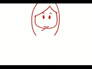 少儿简笔画人物篇—长发女孩