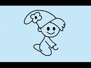儿童学画卡通人物_小小魔法师简笔画法视频