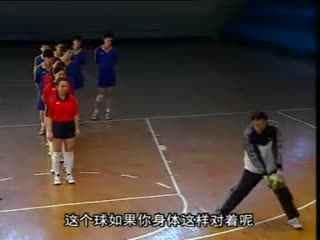 排球视频教学 16 跳发球技术 侧垫技术