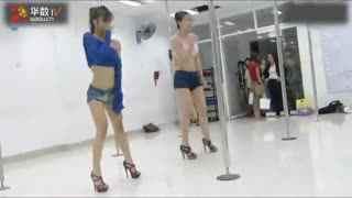 重庆钢管舞性感美女钢管舞技巧教学视频