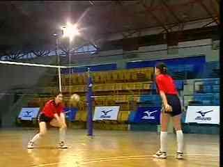 排球教学视频 04 正面双手垫球 准备姿势 身体素质训练 2