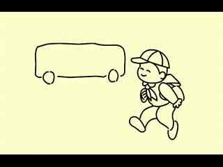 简笔画视频教程小男孩上学的路上怎样画