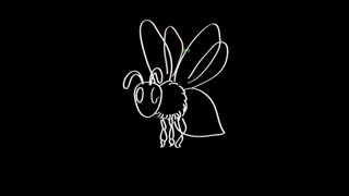 儿童简笔画教程-蜜蜂