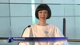 日本智能美女机器人可播报新闻