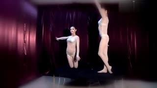 【性感柔术美女】黑丝连裤袜柔术