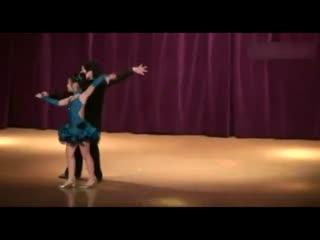 儿童舞蹈 少儿拉丁舞 双人舞表演图片