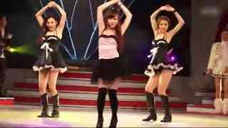 韩国美女跳鸟叔劲爆舞蹈