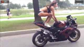 比基尼美女 摩托车特技视频大全高清