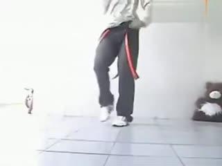 鬼步舞教学基础舞步 韩国美女