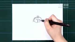 卡通简笔画之玩具警车