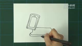 卡通简笔画之旋转屏手机