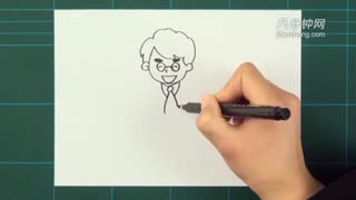 卡通简笔画之爸爸