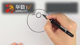 圆形简笔画之小男孩 儿童涂鸦