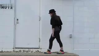鬼步舞教学基础舞步 漂亮美女墨尔本曳步舞视频
