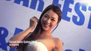 韩国美女车模引领首尔车展
