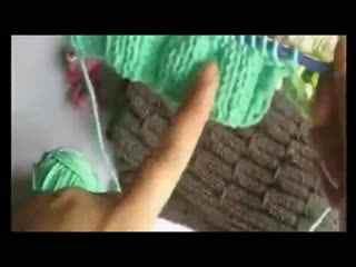 完美教程编织粘土玉米花教程男士的织法--叶子line围巾华数图片