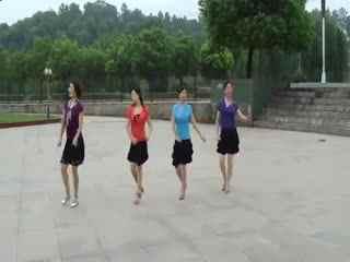 广场舞步分解图_梅川广场舞16步广场舞自由舞步分解动作华
