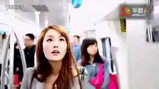 美女在地铁上被性骚扰竟然把持不住了