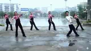 博白广场舞教学:科尔沁姑娘