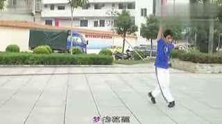 博白广场舞教学:心在云上飞 背面