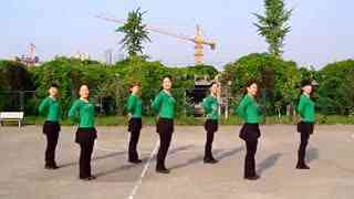 阿文贝贝广场舞教学:姑娘我爱你