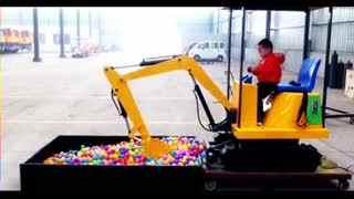 挖掘机视频表演 儿童挖掘机 挖掘机工作视频--