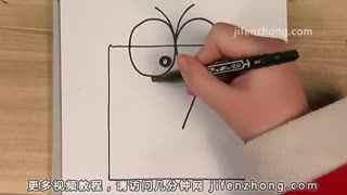 正方形简笔画之小鸟