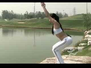 瑜伽入门 美女教你练瑜伽5