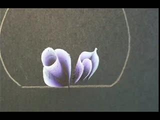 美甲视频 排笔彩绘小玫瑰花