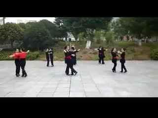 广场舞双人舞 吻你 双人舞三步踩教学视频--华