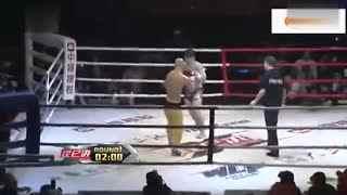 武林风一龙最新比赛2015 武僧一龙暴打韩国拳王