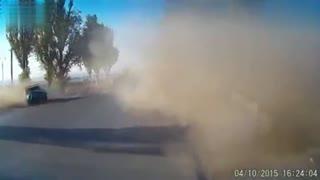 车行险道 一块破损引发的一场车祸