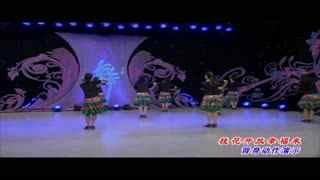 杨艺广场舞:桂花开放幸福来(背身欣赏)