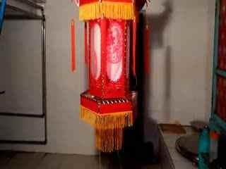 春节灯笼制作 绣球灯笼DIY