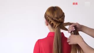 编发发型:这款发型美翻了S形华数编发--彩带TV潮流中学生教程