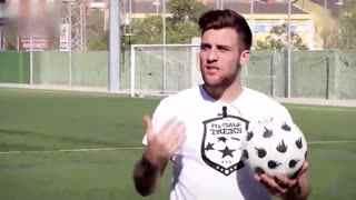 进球精彩瞬间 花式足球脚后跟挑球过人教学--华